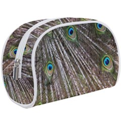 Peacock Feathers Pattern Colorful Makeup Case (large)