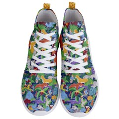 Animated Safari Animals Background Men s Lightweight High Top Sneakers