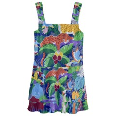 Animated Safari Animals Background Kids  Layered Skirt Swimsuit by Vaneshart