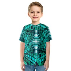 Texture Building Structure Pattern Kids  Sport Mesh Tee