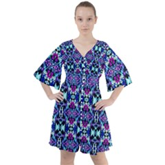 Abstract 49 Boho Button Up Dress