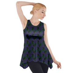 Black Rose Blue Side Drop Tank Tunic by snowwhitegirl