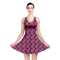 Black Rose Pink Reversible Skater Dress by snowwhitegirl