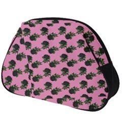 Black Rose Light Pink Full Print Accessory Pouch (big)
