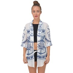 Flag Of United States Department Of Commerce Open Front Chiffon Kimono