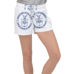 Flag Of United States Department Of Commerce Women s Velour Lounge Shorts