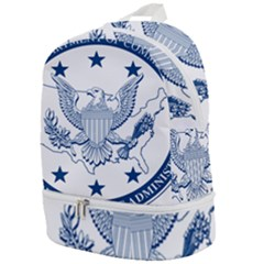 Seal Of Economic Development Administration Zip Bottom Backpack