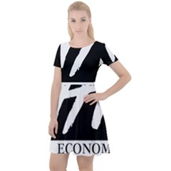 Logo Of Economics And Statistics Administration Cap Sleeve Velour Dress