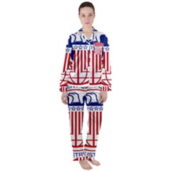 Seal Of United States Department Of Commerce Bureau Of Industry & Security Satin Long Sleeve Pyjamas Set