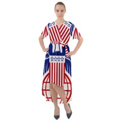 Seal Of United States Department Of Commerce Bureau Of Industry & Security Front Wrap High Low Dress