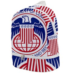 Seal Of United States Department Of Commerce Bureau Of Industry & Security Zip Bottom Backpack