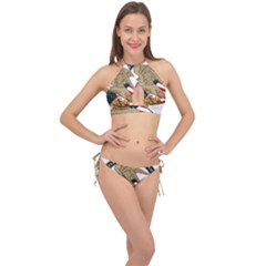 Seal Of United States Patent And Trademark Office Cross Front Halter Bikini Set