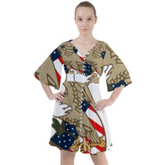 Seal Of United States Patent And Trademark Office Boho Button Up Dress