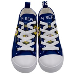 Flag Of Conch Republic Kids  Mid Top Canvas Sneakers