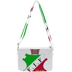 Pre 1979 Logo Of Iran Football Federation Double Gusset Crossbody Bag