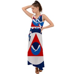 Flag Of National Oceanic And Atmospheric Administration V Neck Chiffon Maxi Dress by abbeyz71