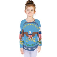 Seal Of United States Department Of Defense Kids  Long Sleeve Tee