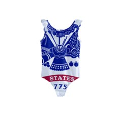 Flag Of United States Department Of Army  Kids  Frill Swimsuit