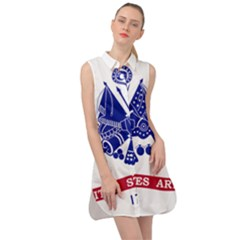 Flag Of United States Department Of Army  Sleeveless Shirt Dress