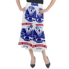 Flag Of United States Department Of Army  Midi Mermaid Skirt