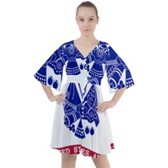 Flag Of United States Department Of Army  Boho Button Up Dress