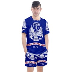 Field Flag Of United States Department Of Army Men s Mesh Tee And Shorts Set