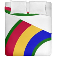 United States Army 42nd Infantry Division Shoulder Sleeve Insignia Duvet Cover Double Side (california King Size) by abbeyz71