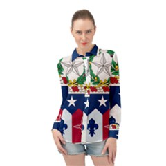 Coat Of Arms Of United States Army 141st Infantry Regiment Long Sleeve Chiffon Shirt by abbeyz71