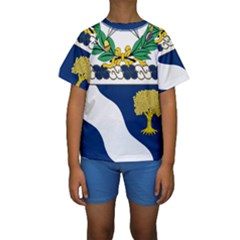 Coat Of Arms Of United States Army 143rd Infantry Regiment Kids  Short Sleeve Swimwear