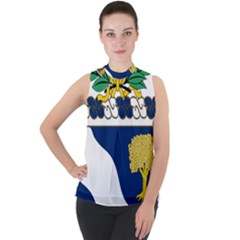 Coat Of Arms Of United States Army 143rd Infantry Regiment Mock Neck Chiffon Sleeveless Top by abbeyz71