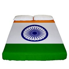 Flag Of India Fitted Sheet (queen Size)