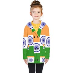 Flag Of India Kids  Double Breasted Button Coat by abbeyz71