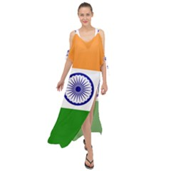 Flag Of India Maxi Chiffon Cover Up Dress