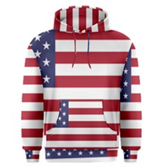 Flag Of The United States Of America  Men s Pullover Hoodie by abbeyz71