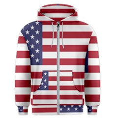Flag Of The United States Of America  Men s Zipper Hoodie by abbeyz71