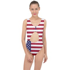 Flag Of The United States Of America  Center Cut Out Swimsuit