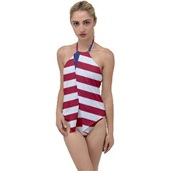 Flag Of The United States Of America  Go With The Flow One Piece Swimsuit