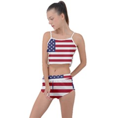 Flag Of The United States Of America  Summer Cropped Co-ord Set