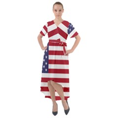 Flag Of The United States Of America  Front Wrap High Low Dress