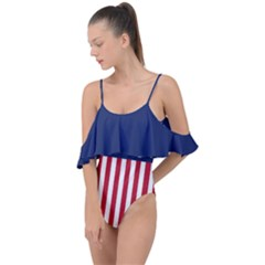 Betsy Ross Flag Usa America United States 1777 Thirteen Colonies Vertical Drape Piece Swimsuit by snek