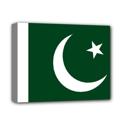 Flag Of Pakistan Deluxe Canvas 14  X 11  (stretched) by abbeyz71