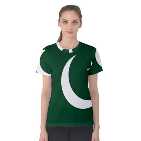 Flag Of Pakistan Women s Cotton Tee by abbeyz71