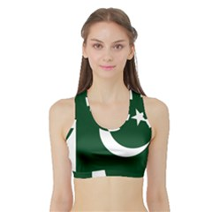 Flag Of Pakistan Sports Bra With Border by abbeyz71