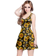 Honey Bee Sunflower Reversible Sleeveless Dress by trulycreative
