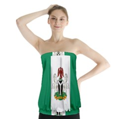 Flag Of Nigeria  Strapless Top by abbeyz71