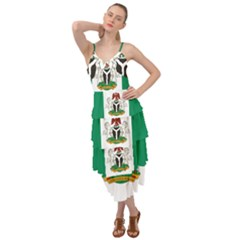 Flag Of Nigeria  Layered Bottom Dress by abbeyz71