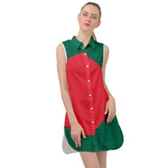 Flag Of Bangladesh Sleeveless Shirt Dress by abbeyz71