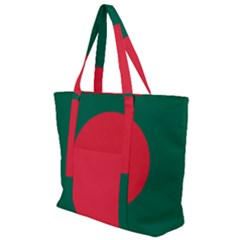 Flag Of Bangladesh Zip Up Canvas Bag
