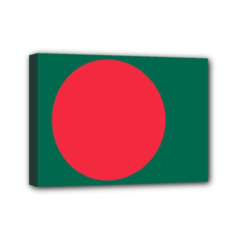 Flag Of Bangladesh Mini Canvas 7  X 5  (stretched)