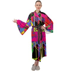Club Fitstyle Fitness By Traci K Maxi Velour Kimono by tracikcollection